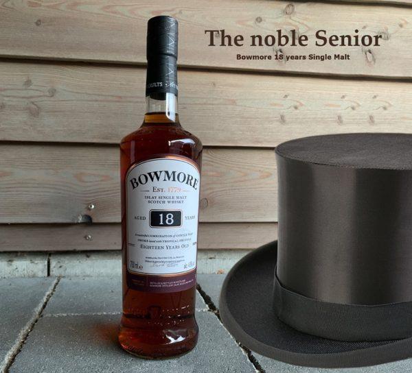 Bowmore 18 years single malt, the noble senior