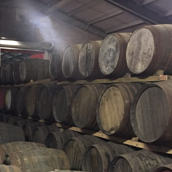 storage house at Edradour distillery