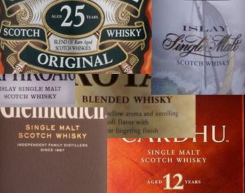 Whisky mixed brands