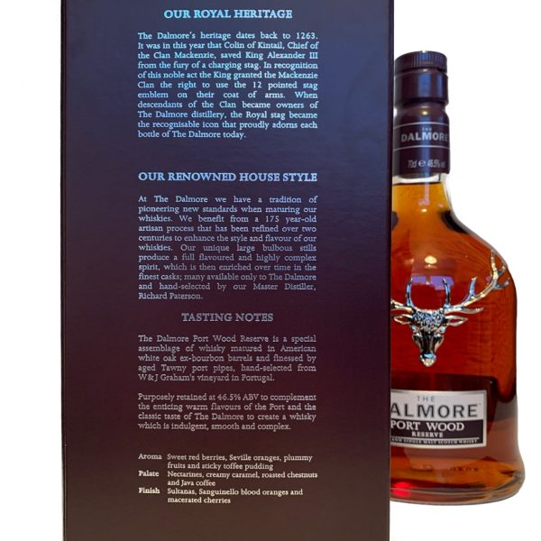 Dalmore Portwood Reserve Single Malt backside label