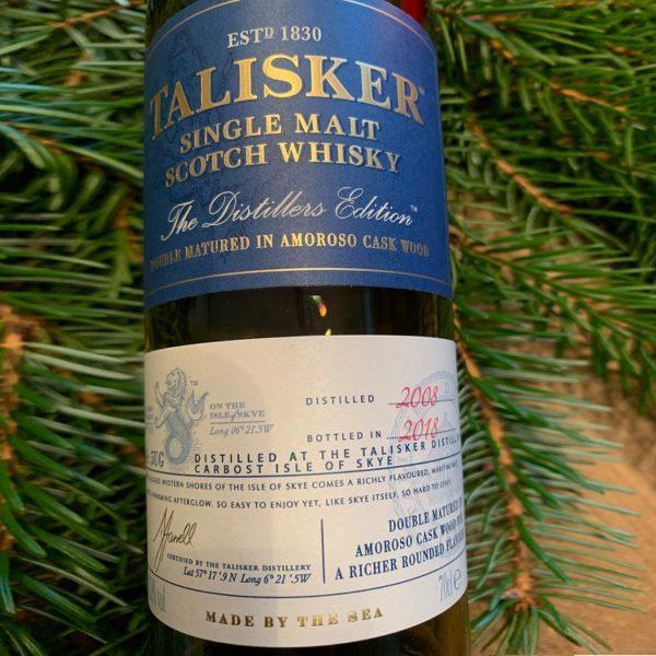 Talisker Distillers Edition Single Malt front label