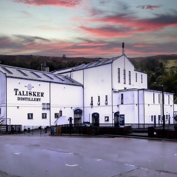 Talisker Distillery at Sunset