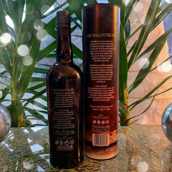 Old Ballantruan single malt back side label