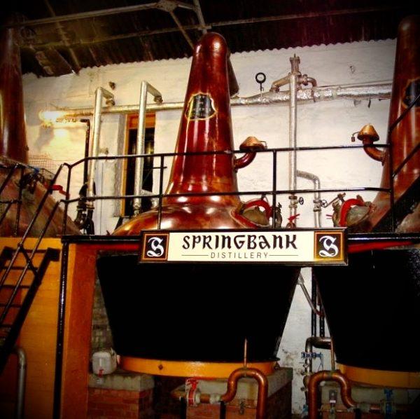 Springbank Brennblasen in der Destillerie