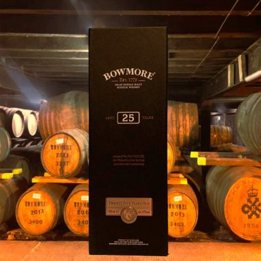 Bowmore 25 years single malt in storage house