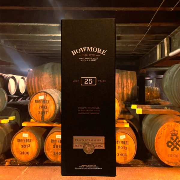 Bowmore 25 years single malt in storage house