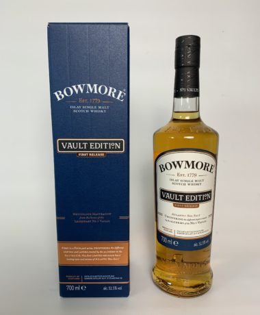"""Bowmore Atlantic Sea Salt"" single malt, bottled at 51.5% vol., represents salty-maritime flavors, which are accompanied by a very fine hint of smoke."