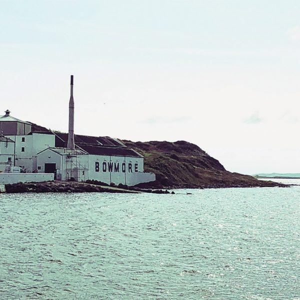 Bowmore Distillery from Seaside