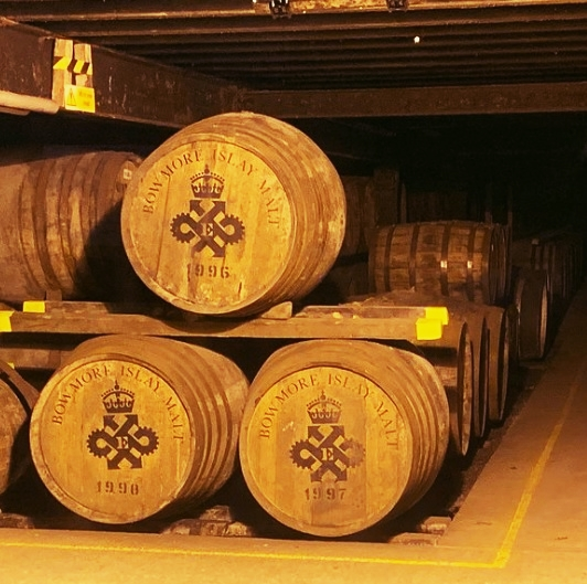 Bowmore famous Whisky storage house