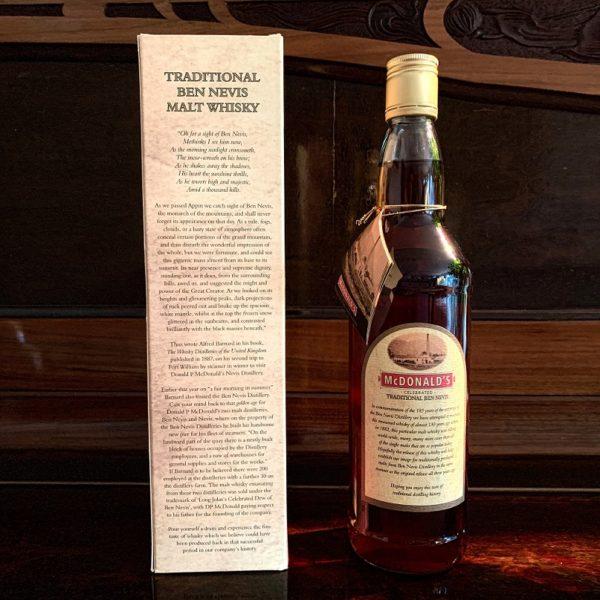 Ben Nevis Traditional backside label