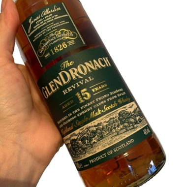 GlenDronach 15 years single malt label front side