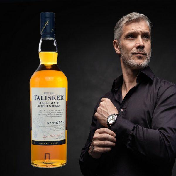 Talisker 57° North Single Malt with cool man