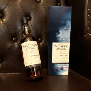 Talisker 57° North Single Malt on chair