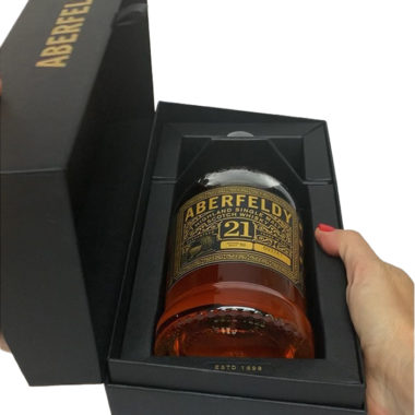 Aberfeldy 21 years single malt unpacking
