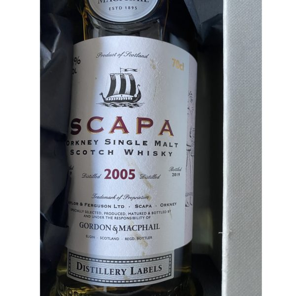 Scapa Distillery Label Last Bottle Label