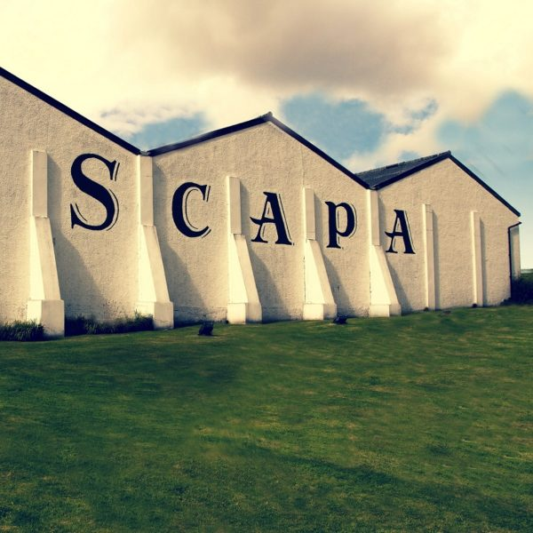Scapa Distillery building in sunset