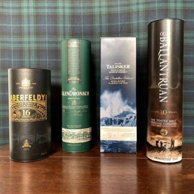 Flavor Package Scotch Choice - high quality single malts of different taste categories