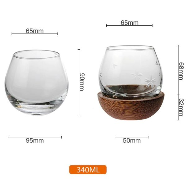 Slow Roll Whisky Glass, sizes