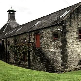 Aberfeldy Distillery with pagoda roof