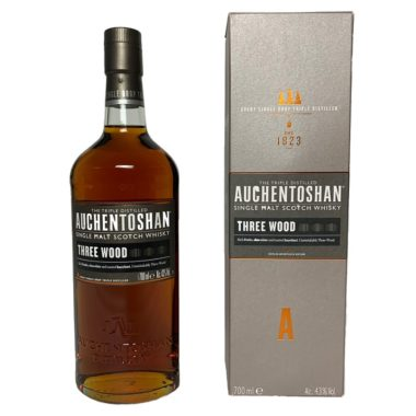 Auchentoshan Three Wood Single Malt is a great dram for lovers of complex, but non-smokey whiskys with a deep character.