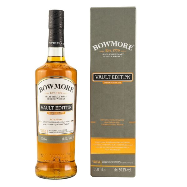 """""""Bowmore Peat Smoke"""" is a single malt, with notes of peat coal and glowing wood in a perfect combination with aromas of sweet dates, figs and sea salt."""
