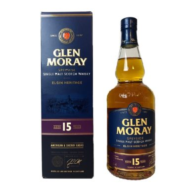 Glen Moray 15 years Single Malt smooth and light Speyside Whisky, perfect introduction into a relaxed afternoon