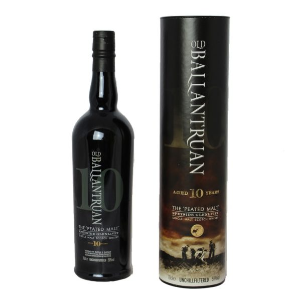 Old Ballantruan 10 years Single Malt is a well matured bottling of the Tomintoul Distillery. Earthy peat smoke mixes with tart wood and sweet vanilla notes.