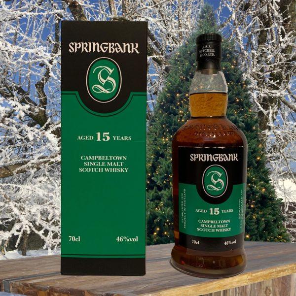 Springbank 15 Jahre Single Malt Weihnachtsbild