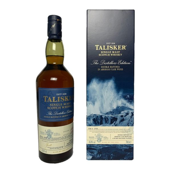 Talisker Distiller´s Edition – a great Single Malt, fresh, peppery and spicy, with fruity notes and the spice of the oak barrels.