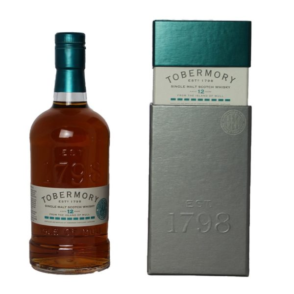 Tobermory 12 years Single Malt is a wonderful taste experience, complex, very fruity and oily, perfectly matched to the alcohol content of 46.3%.