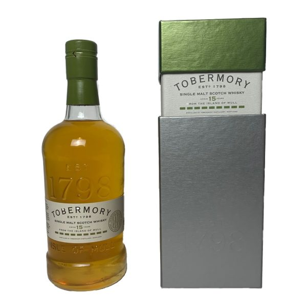 Tobermory 15 years Brandy finish, wonderful aroma of dry fruits, followed by maritime aroma & hints of roasted coffee.
