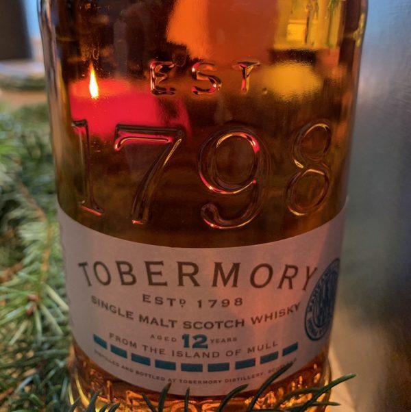 Tobermory 12 years single malt label