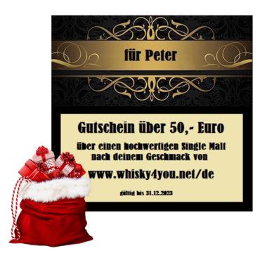 Whisky Gutschein von Whisky4you zu Weihnachten