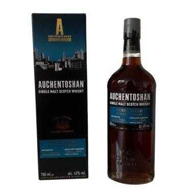 Auchentoshan Three Wood New Bottle of famous Lowland Scotch