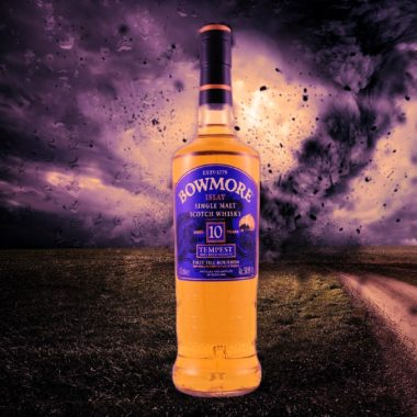 Bowmore Tempest - wild Scotch in cask strength with stormy background