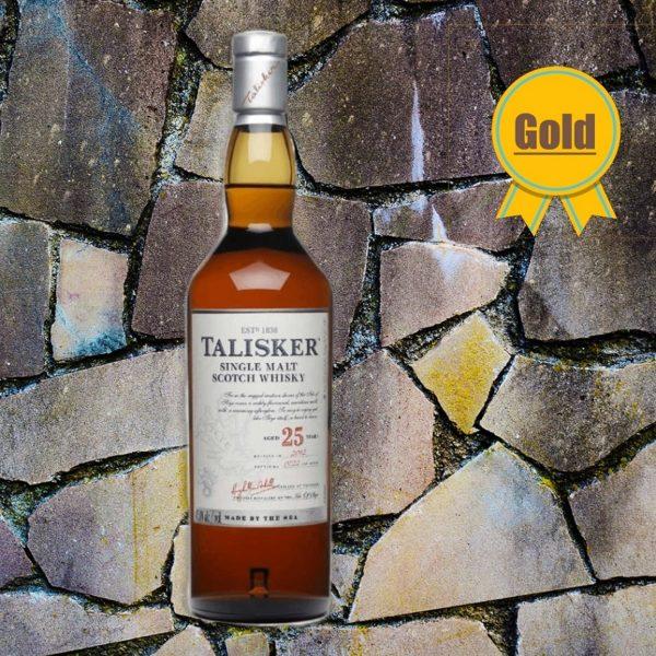 Talisker 25 Jahre Single Malt Bottle with gold medal