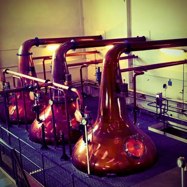 Talisker Distillery 3 main stills in production hall